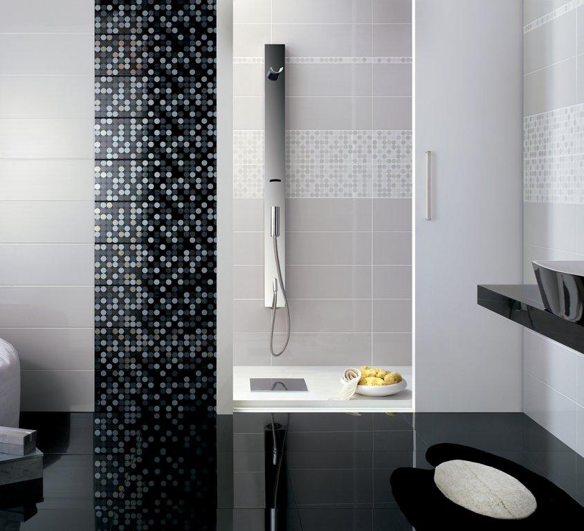 Moda ceramica pavimenti e rivestimenti bianco - Bagno grigio e bianco ...