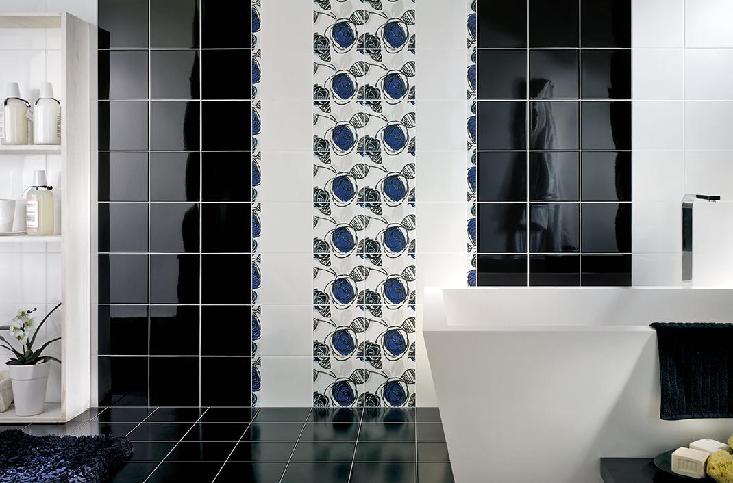 Colors rivestimento bagno bianco mosaico moda ceramica