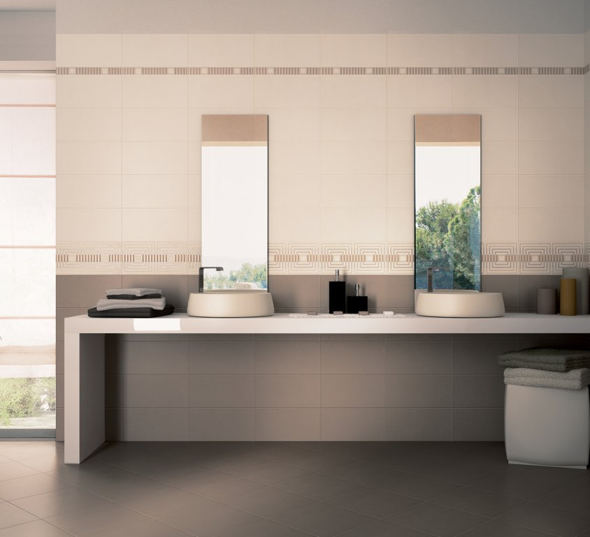 Piastrelle bagno marrone rs71 regardsdefemmes - Rivestimenti bagno moderni ...