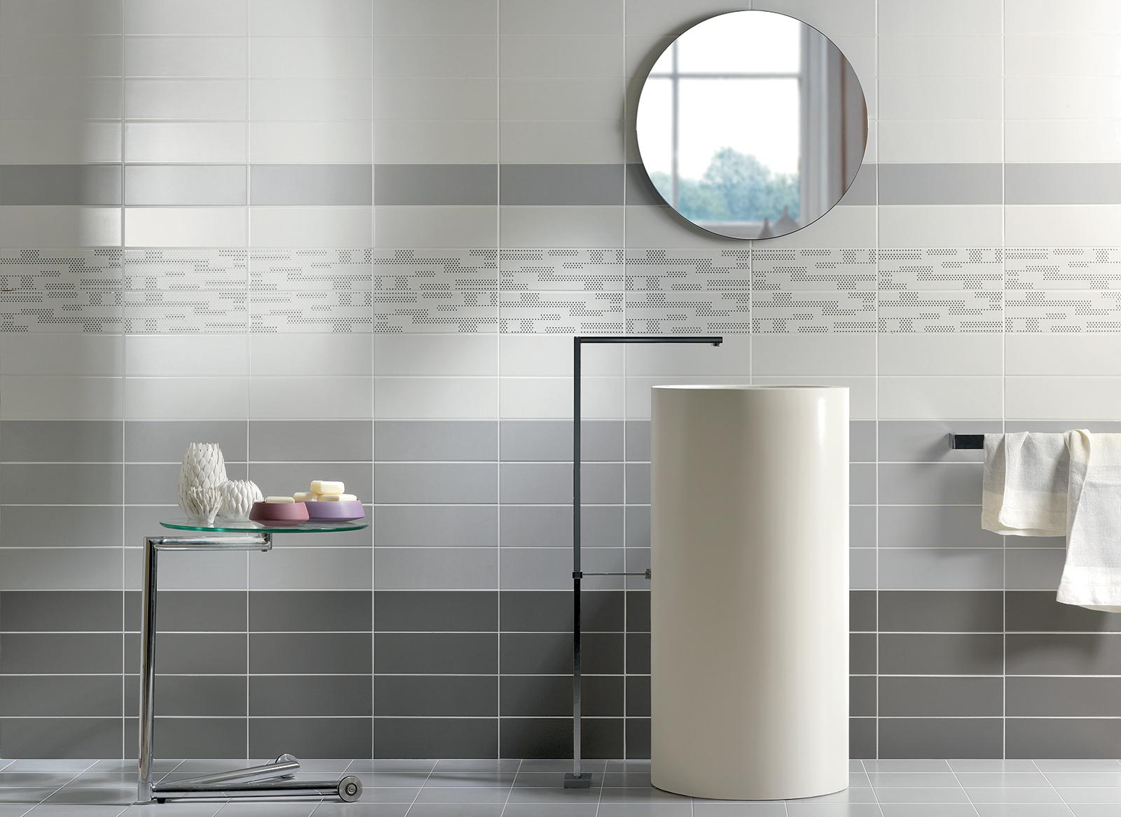 Tiffany rivestimento bagno grigio cemento wall moda ceramica