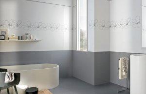 Soft rivestimento bagno grigio moda ceramica