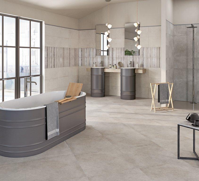 Pavimenti e rivestimenti per il bagno moda ceramica - Pavimento bagno moderno ...